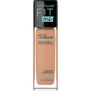 Maybelline New York Fit Me Matte + Poreless Foundation, Natural Tan