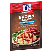 McCormick 30% Less Sodium Brown Gravy Mix