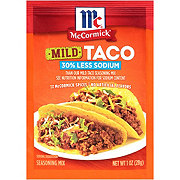 McCormick 30% Less Sodium Mild Taco Seasoning
