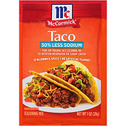 McCormick 30% Less Sodium Taco Seasoning Mix