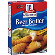 McCormick Golden Dipt Beer Batter Seafood Batter Mix
