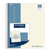 Mead Cambridge Notebook Four Square Quad Ruled Ivory, 70 Sheets