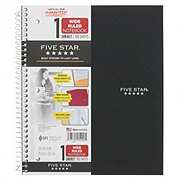 Mead Five Star 1 Subject Wirebound Wide Ruled Notebook, Assorted Colors