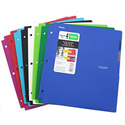 Mead Five Star 4 Pocket Folder with Quick View Tabs, Assorted Colors
