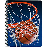 Mead MeadSports Wide Ruled Notebook, Designs May Vary