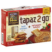 Mediterranean Snacks Tapaz 2 Go Lentil Crackers With Red Pepper Hummus