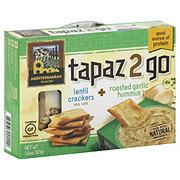 Mediterranean Snacks Tapaz 2 Go Lentil Crackers With Roasted Garlic Hummus