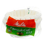 Melitta 8-12 Cup White Basket Coffee Filters