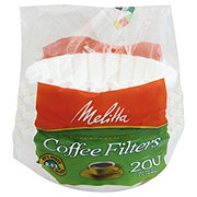 Melitta Basket Coffee Filters, 8-12 Cup, White