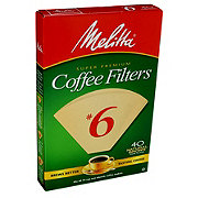 Melitta Cone No. 6 Natural Brown Coffee Filters