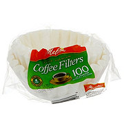 Melitta Junior Basket Coffee Filters, 4-6 Cup, White