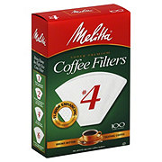 Melitta White No. 4 Cone Coffee Filters