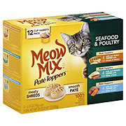 Meow Mix Pate Toppers Cat Food, Seafood & Poultry Variety Pack