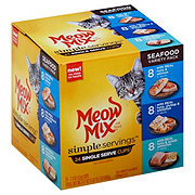 Meow Mix Simple Servings Seafood Variety Pack