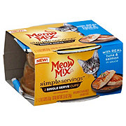 Meow Mix Simple Servings Tuna And Salmon In Sauce