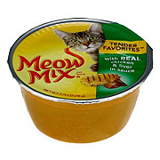 Meow Mix Tender Favorites Cat Food, Real Chicken & Liver in Sauce