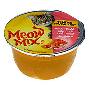 Meow Mix Tender Favorites Cat Food, Real Salmon & Crab in Sauce