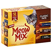 Meow Mix Wet Classic Pate Variety Pack Cat Food