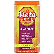 Metamucil Psyllium Fiber Supplement Orange Smooth Powder