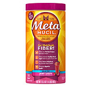 Metamucil Psyllium Fiber Supplement Sugar-Free Berry Smooth Powder