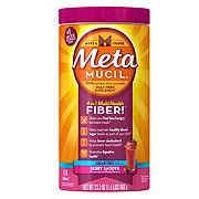 Metamucil Psyllium Fiber Supplement Sugar-Free Berry Smooth Powder