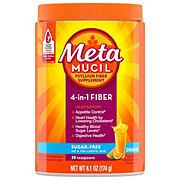 Metamucil Psyllium Fiber Supplement Sugar-Free Orange Smooth Powder