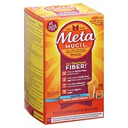 Metamucil Psyllium Fiber Supplement Sugar-Free Orange Smooth Powder Packets