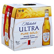 Michelob Ultra Pure Gold Beer 12 oz Bottles