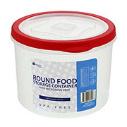 Micro World Round Food Storage Container With Microwave Vent