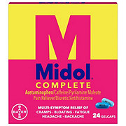 Midol Complete Maximum Strength Multi-Symptom Relief Gelcaps