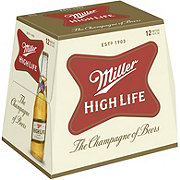 Miller High Life Beer 12 oz Longneck Bottles