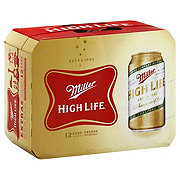 Miller High Life Beer 12 PK Cans
