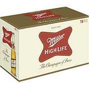 Miller High Life Beer 18 PK Bottles