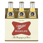 Miller High Life Beer 6 PK Bottles
