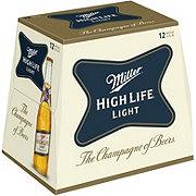 Miller High Life Light Beer 12 PK Bottles