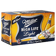 Miller High Life Light Beer 18 PK Longneck Bottles
