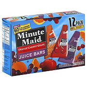 Minute Maid Orange Cherry Grape Juice Bars
