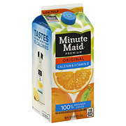 Minute Maid Premium Original Low Pulp 100% Orange Juice With Calcium and Vitamin D