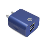Mizco Wall Charger Blue 2 Usb 2.4 Amp