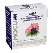 Mocu Chia Blackberry Hibiscus Green Tea Drink Mix