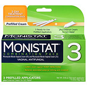 Monistat 3 Vaginal Antifungal 3 Day Treatment Cream Dual Action Combination