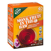 Monk Fruit in the Raw Zero Calorie Sweetener Packets