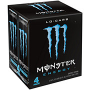 Monster Lo-Carb Energy Drink 16.9 oz Cans