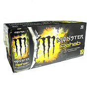 Monster Rehab Tea + Lemonade + Energy Drink 15.5 oz Cans