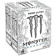 Monster Zero Ultra Energy Drink 16 oz Cans