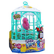 Moose Toys Little Live Pets Tweet Talking Bird with Cage, Colors & Designs May Vary