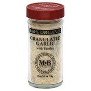 Morton & Bassett 100% Organic Granulated Garlic with Parsley
