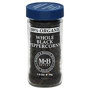 Morton & Bassett 100% Organic Whole Black Peppercorns