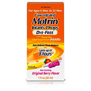 Motrin Children's Concentrated Drops Dye-Free