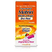 Motrin Infant Drops Dye-free Original Berry Flavor